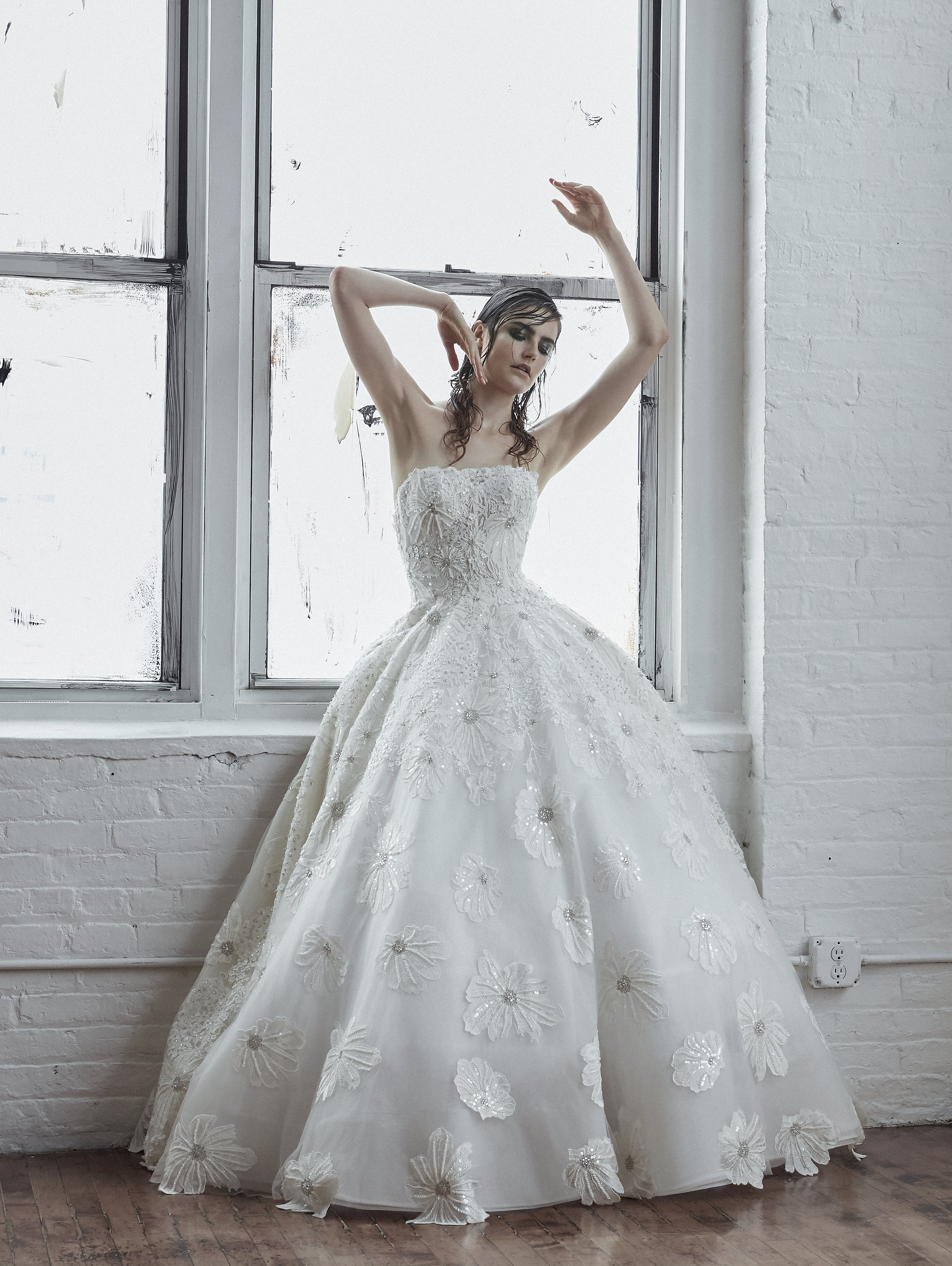 ANASTASIA Floral Lace Ball Gown ~ Fall 2018 Collection