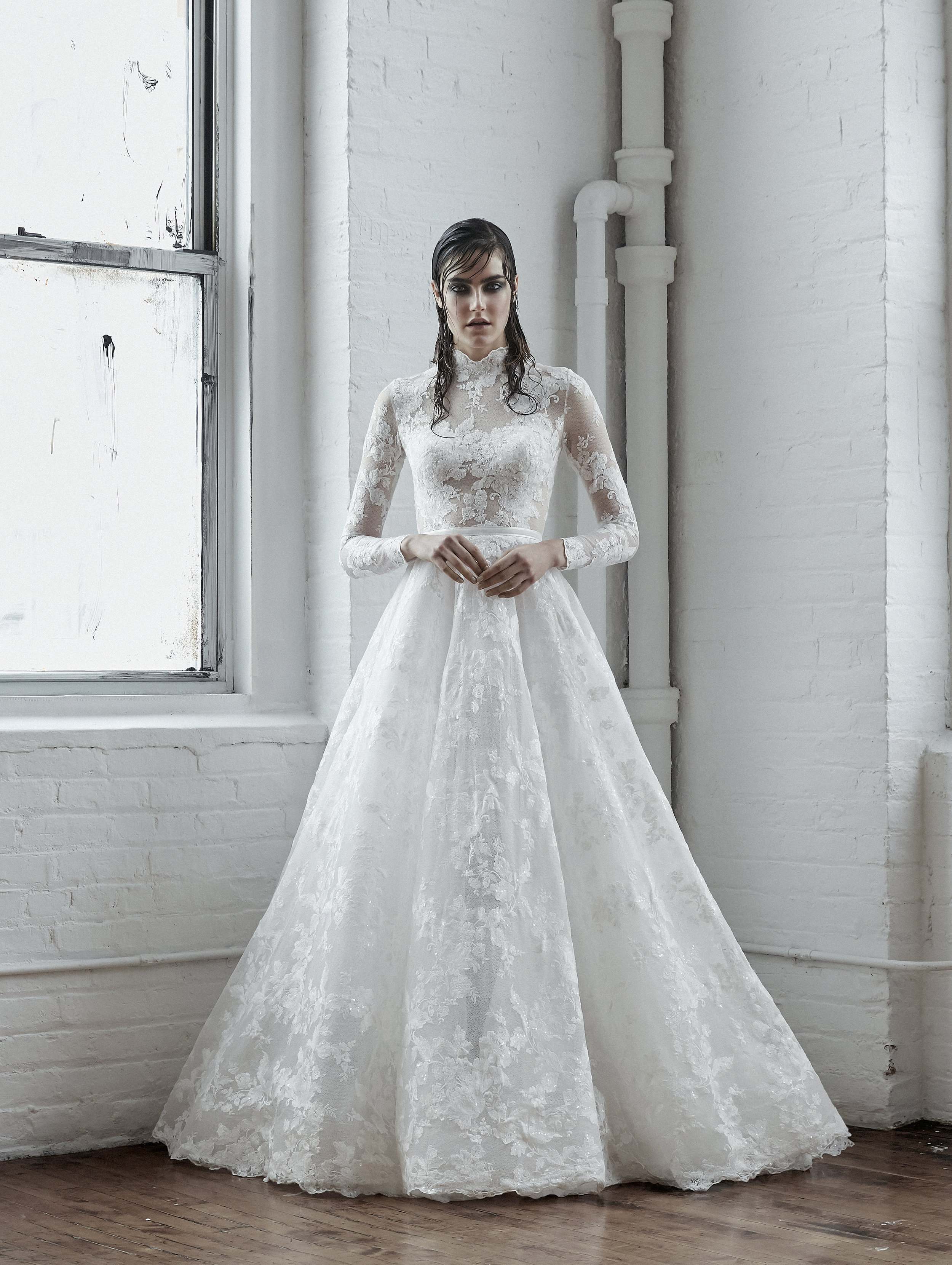 AMPARO Long Sleeve Lace Ball Gown ~ Fall 2018 Collection