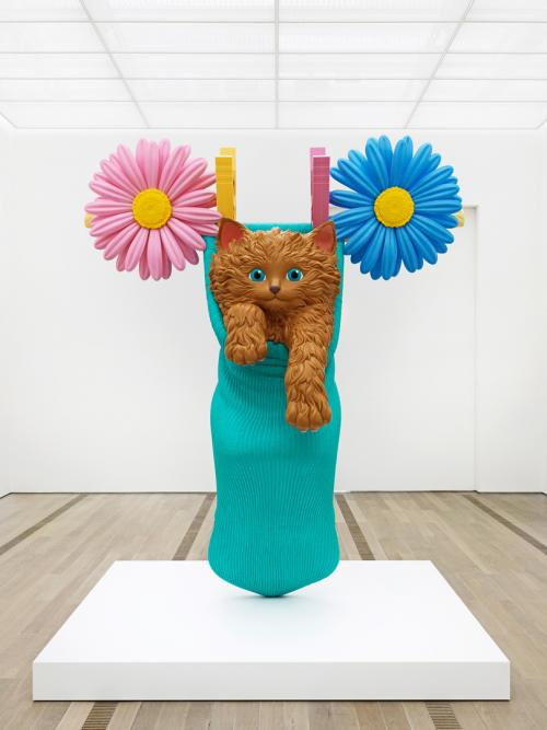 Jeff Koons  'Cat on a Clothesline' Rotationally Molded  Polyethylene    Photo Courtesy: Jeff Koons