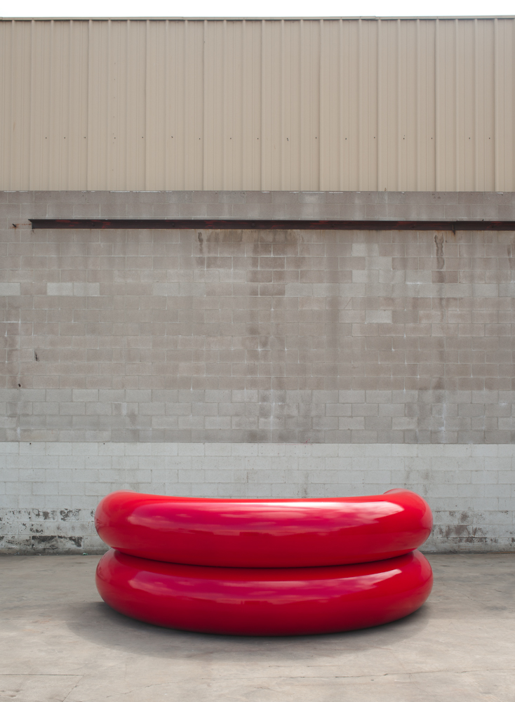 Sterling Ruby  'Lips', 2014 Painted Steel Photo Courtesy: Sterling Ruby