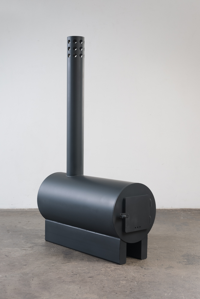 Sterling Ruby  'Black Stoves', 2014 Painted Stainless Steel Photo Courtesy: Sterling Ruby