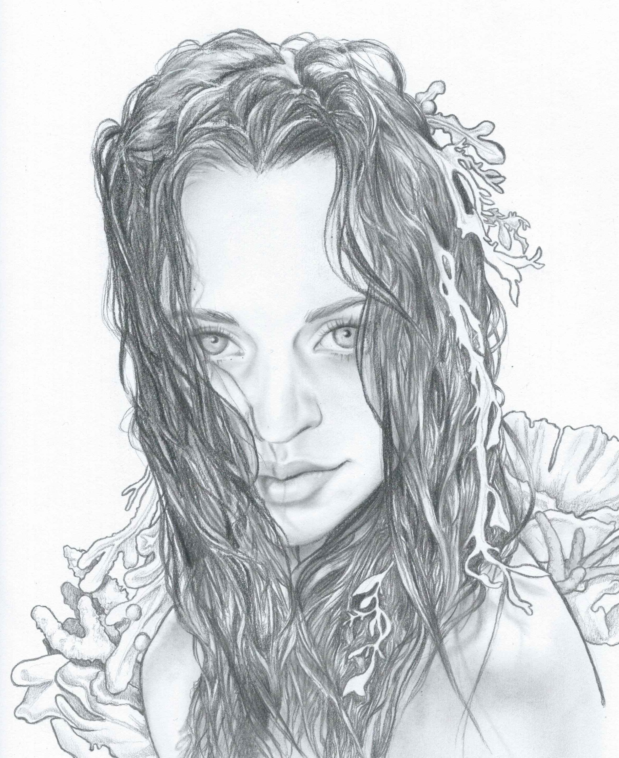 Coral Queen Sketch