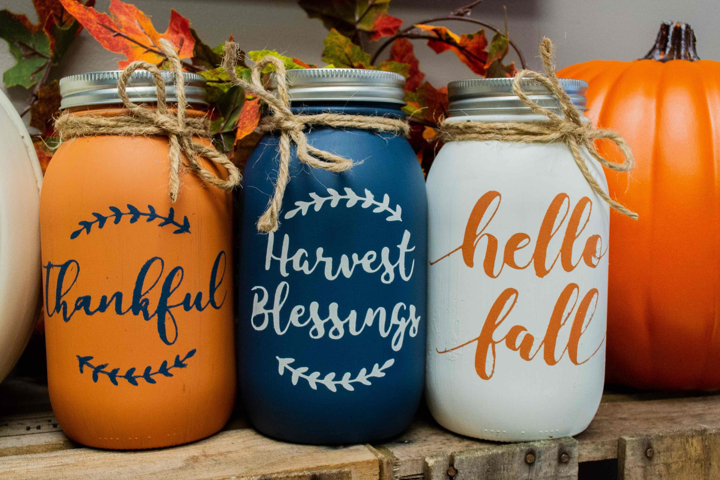 Fall Mason Jars Petite Palette