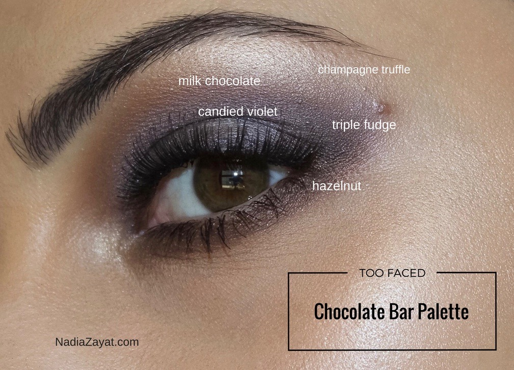 A look I've created using Too Faced Chocolate Bar
