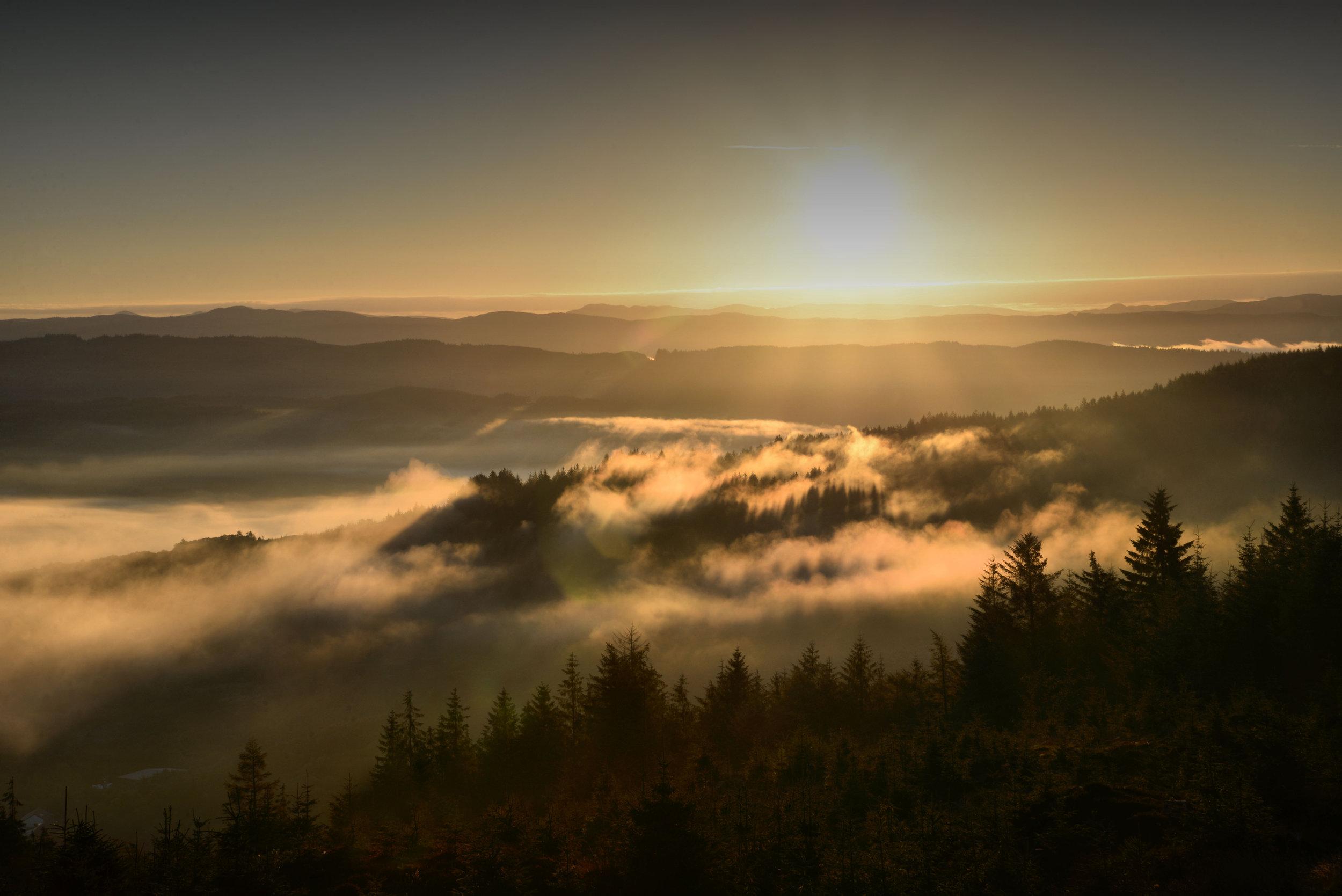 sunrise over kilmartin glen scotland