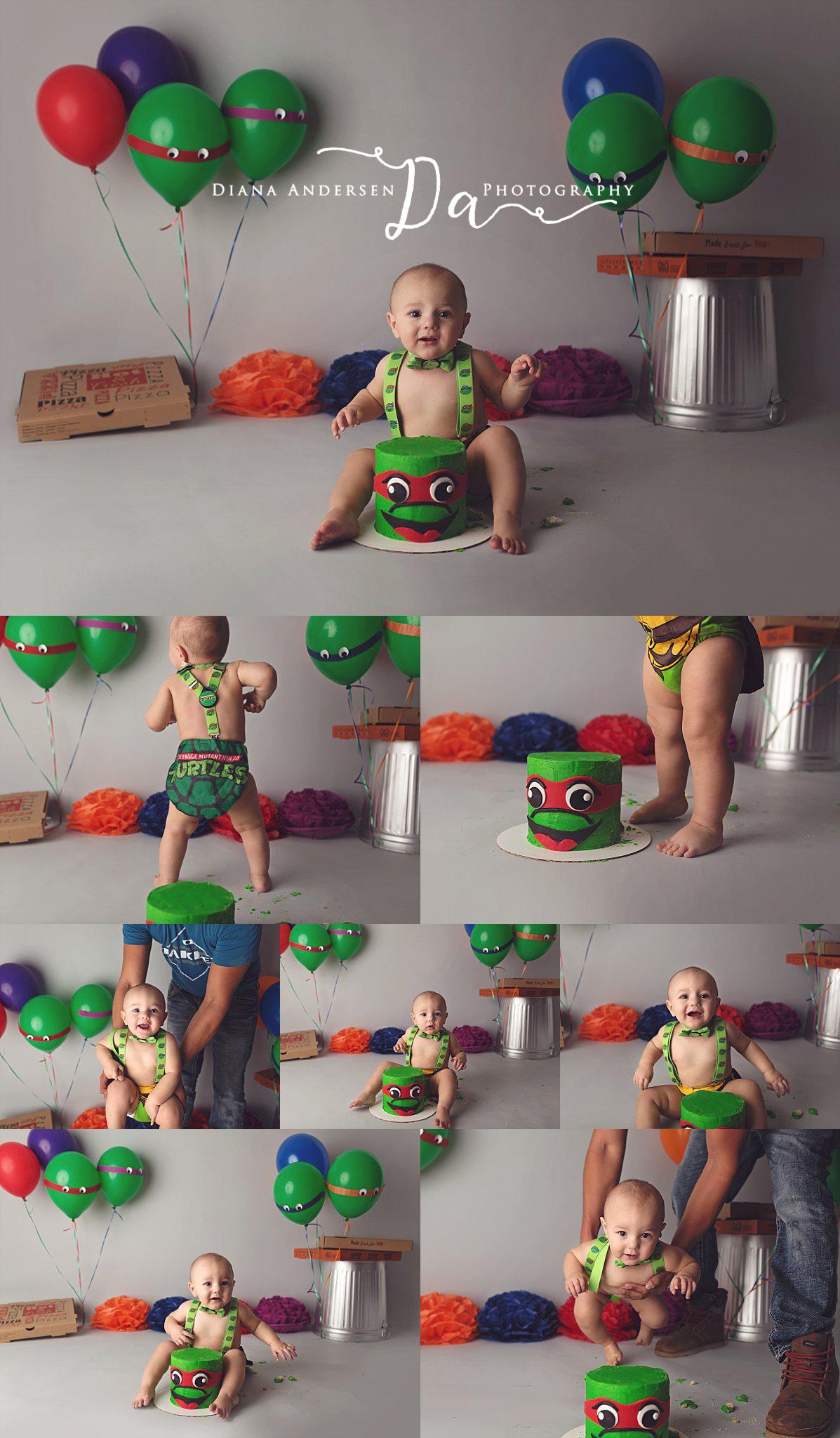 baby-boy-ninja-turtles-cake-smash-in-wyoming