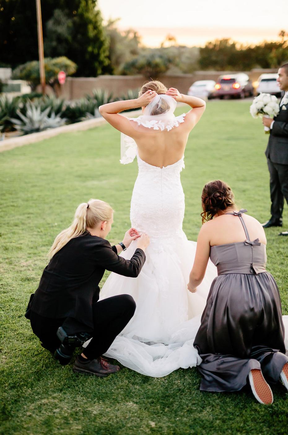 Jag, under ett av alla bröllop med Matt.