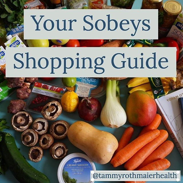 Live in a small rural community and want clean ,healthy fresh options for eating? Head on over to Sobeys. Here is your Sobeys Guide to Shopping👇🏻. Organic Produce: 🌱Spinach, mixed greens and butter hearts 🌱Herbs ✔️Kombucha ✔️Tofu Shiratoki 🧀Daiya cheese, nut cheese 🍋lemons and lime 🍓raspberries, blueberries, blackberries and strawberries 🍇Grapes 🍎Apples 🍆carrots, cauliflower, celery and head lettuce 🍌bananas 🌱cucumbers, apples and potatoes 🌱tumeric, ginger and butter nut squash  Nuts 🌰pistachios, walnuts and almonds Meats: 🐟Wild caught Alaskan Salmon  Refrigerated section: ✔️Kerry Gold Cheeses ✔️Coconut and Almond Milk - note unsweetened ✔️Coconut yogurt ✔️Organic free range eggs ✔️Vegannise ( mayo alternative)  Frozen Section: 👌🏻Frozen berries 👌🏻Frozen veggies ( cauliflower, broccoli, green beans, corn) 👌🏻Grass fed Kerry Gold butter  Lots of goodness in these isles, you may need to take some time the first time looking through the shelves so save some frustration and head in when you have time and don't be afraid to ask for assistance. If, for some reason items are not available ask the local store manager as they are more than willing to bring in items if their is demand. Chances are you not the only one searching for these items.  So make the request✔️ Happy Shopping  Screen Shot 2019-01-07 at 4.49.45 PM.png Tammy Rothmaier Functional Health Practitioner, FDNP Integrative Nutrition Health Coach  Connect with me: Facebook -tammy rothmaier, Insta - tammy.rothmaier, Periscope & Twitter - trothmaier Lots of great tips to check out on my web page, www.tammyrothmaier.com