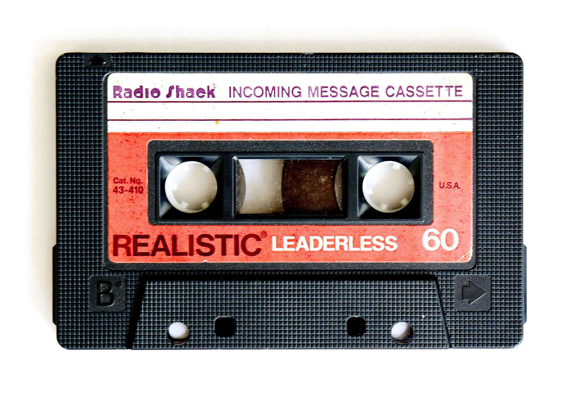 Actual tape from Pamela's old answering machine