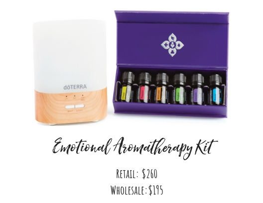 5mL Bottles:   Motivate®, Cheer®, Passion® Forgive®, Console ®  , Peace®   Other Products:   Lumo Diffuser, The doTERRA Essentials Booklet