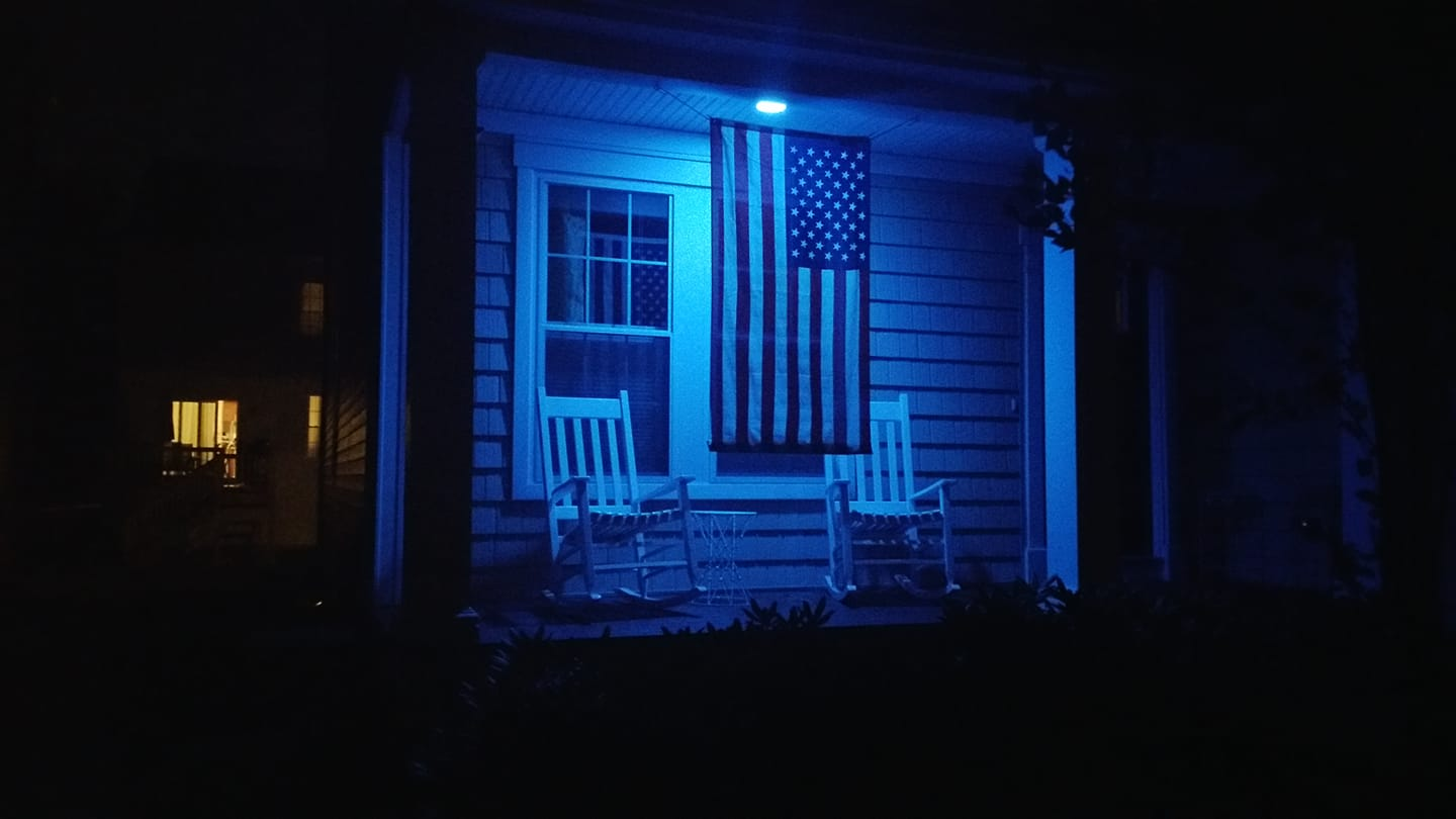 Blue lights were seen throughout the community.