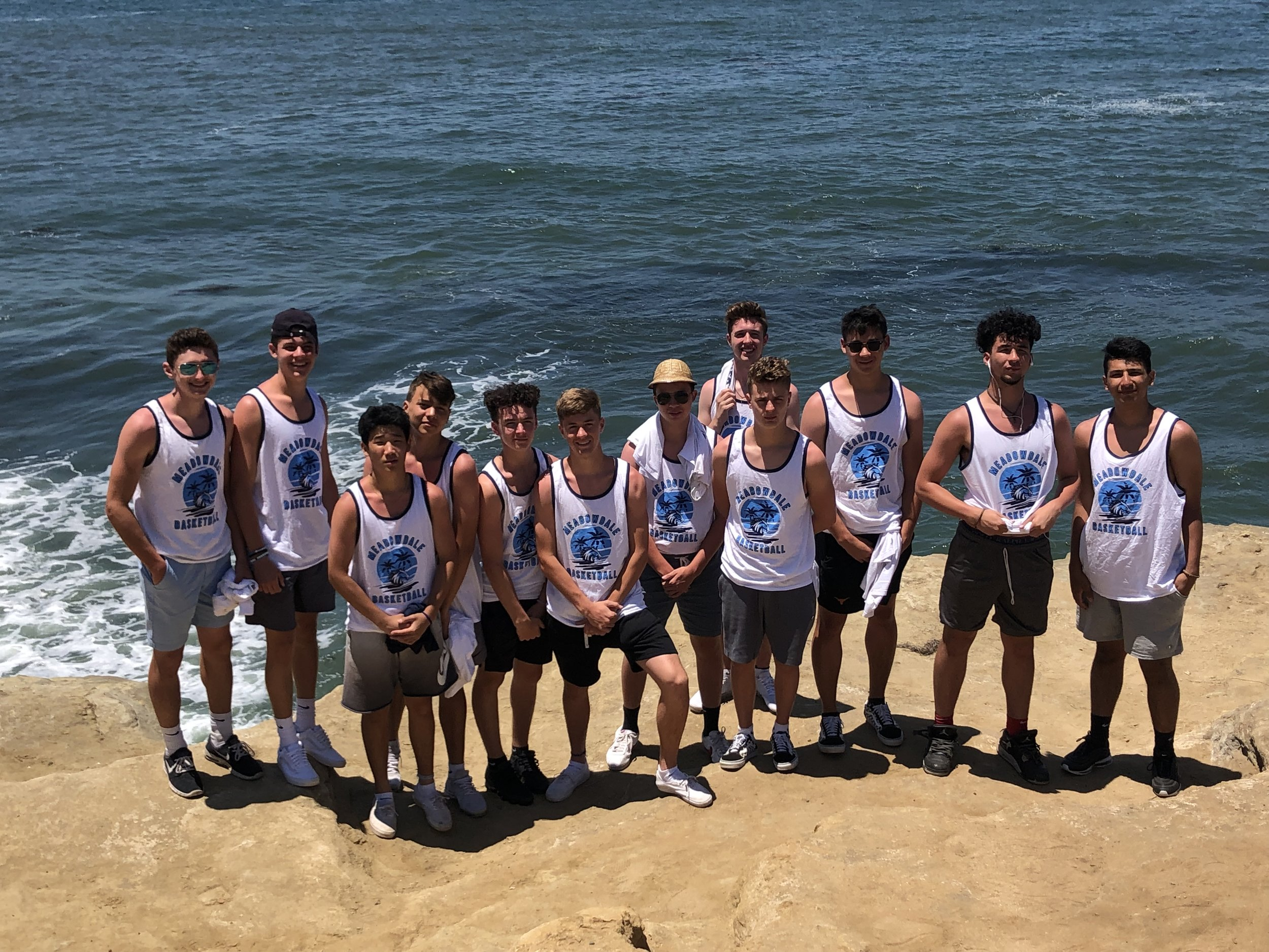 TUE: Team Bro-Tanks being shown off at Sunset Cliffs in Ocean Beach.