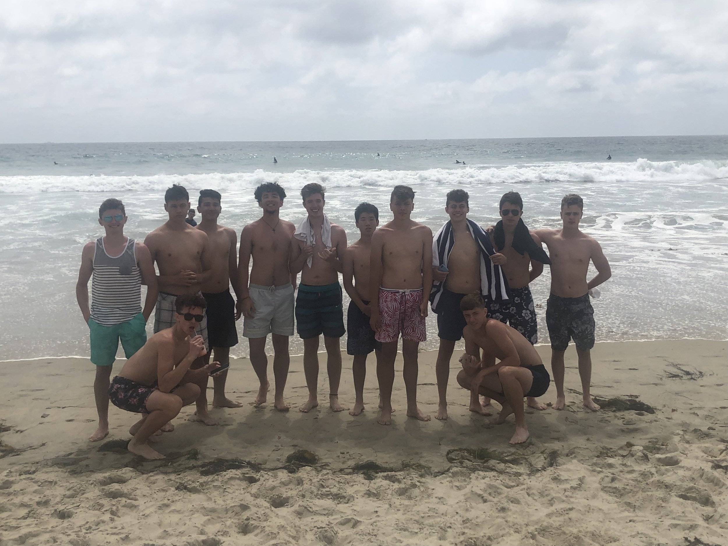 MON: Beach day! Lots of boogie boarding, beach football, and a few sunburns