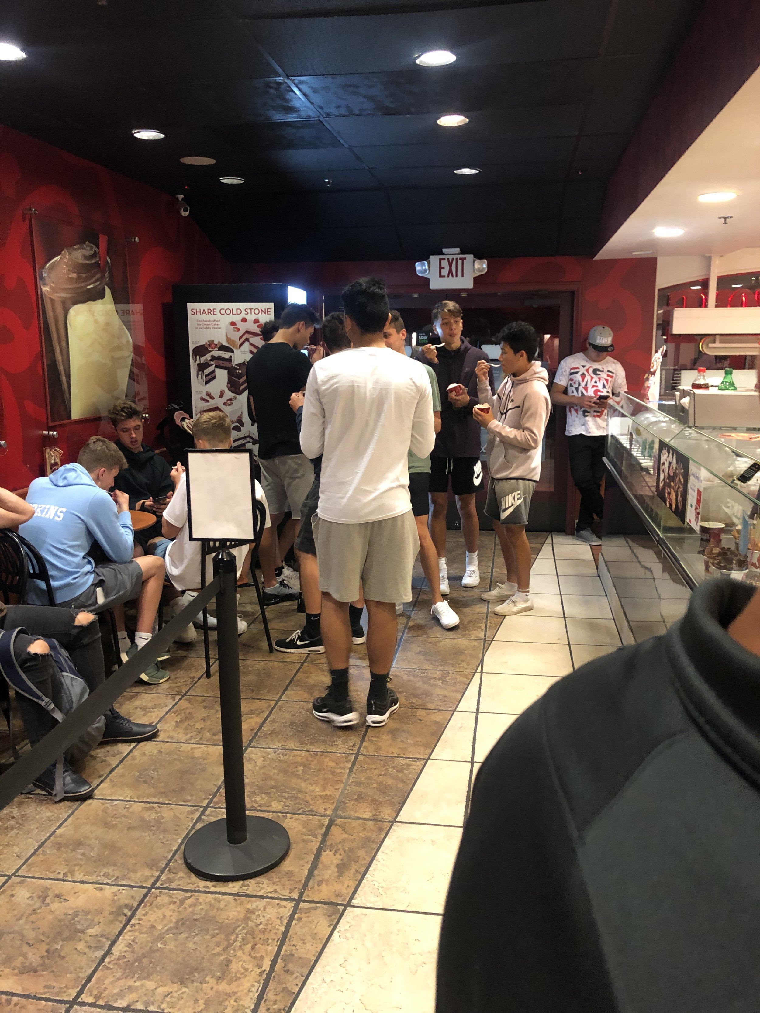 SAT: Cold Stone in La Jolla
