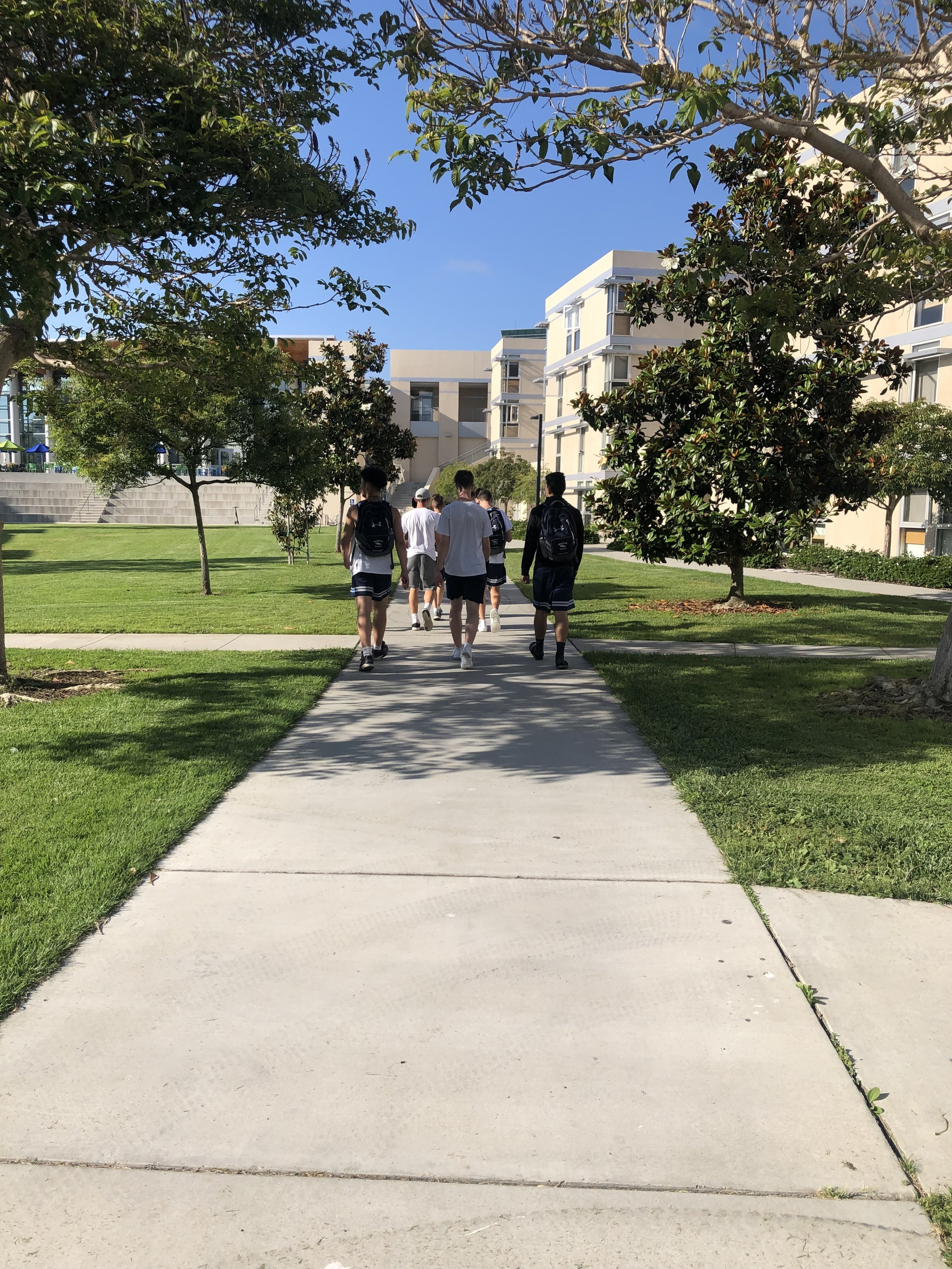 SAT: Walking to lunch on UCSD campus