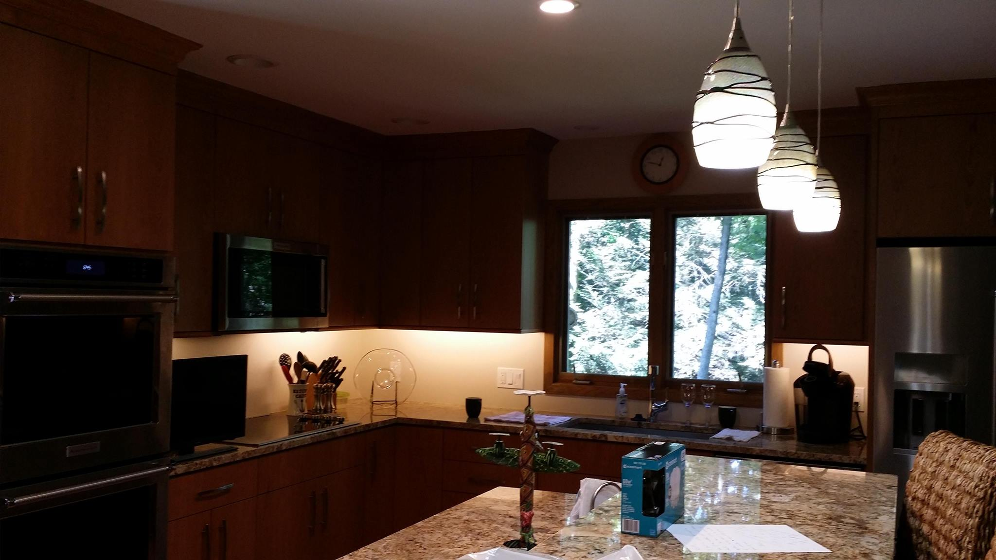 Kitchen - With the under cabinet lights on!