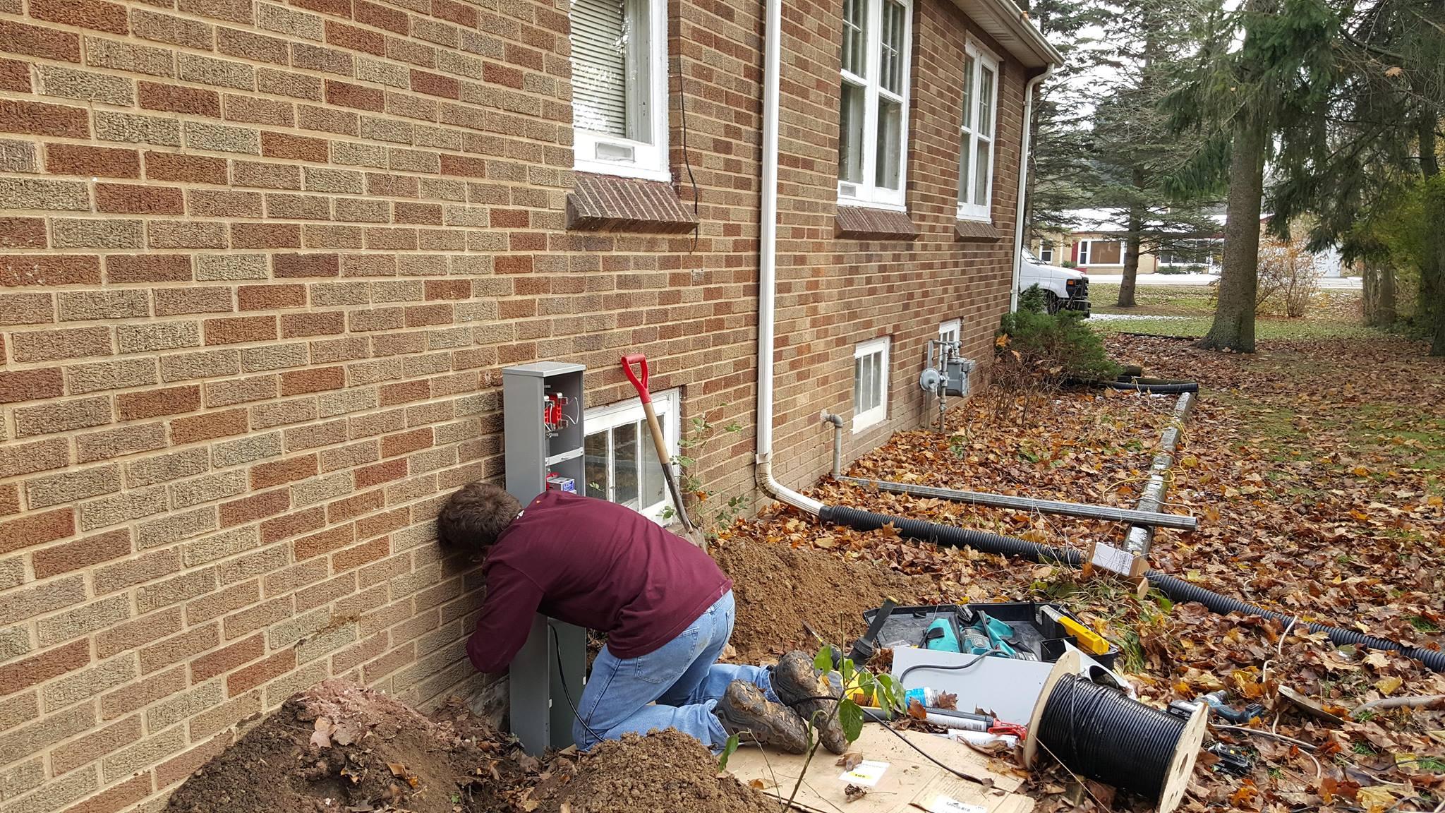 Service update - New meter pedestal going in today