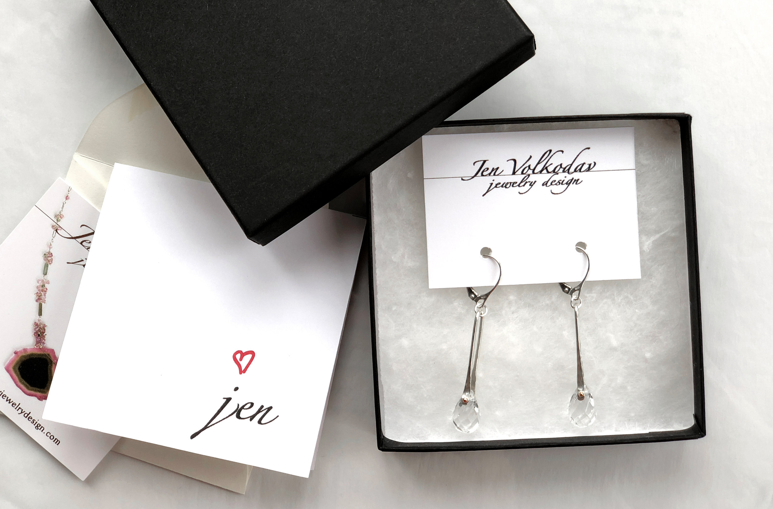 Clear Quartz Earrings in Sterling Silver and rose gold as gifted to attending celebrities at the 2019 GBK Golden Globes Gift Lounge.