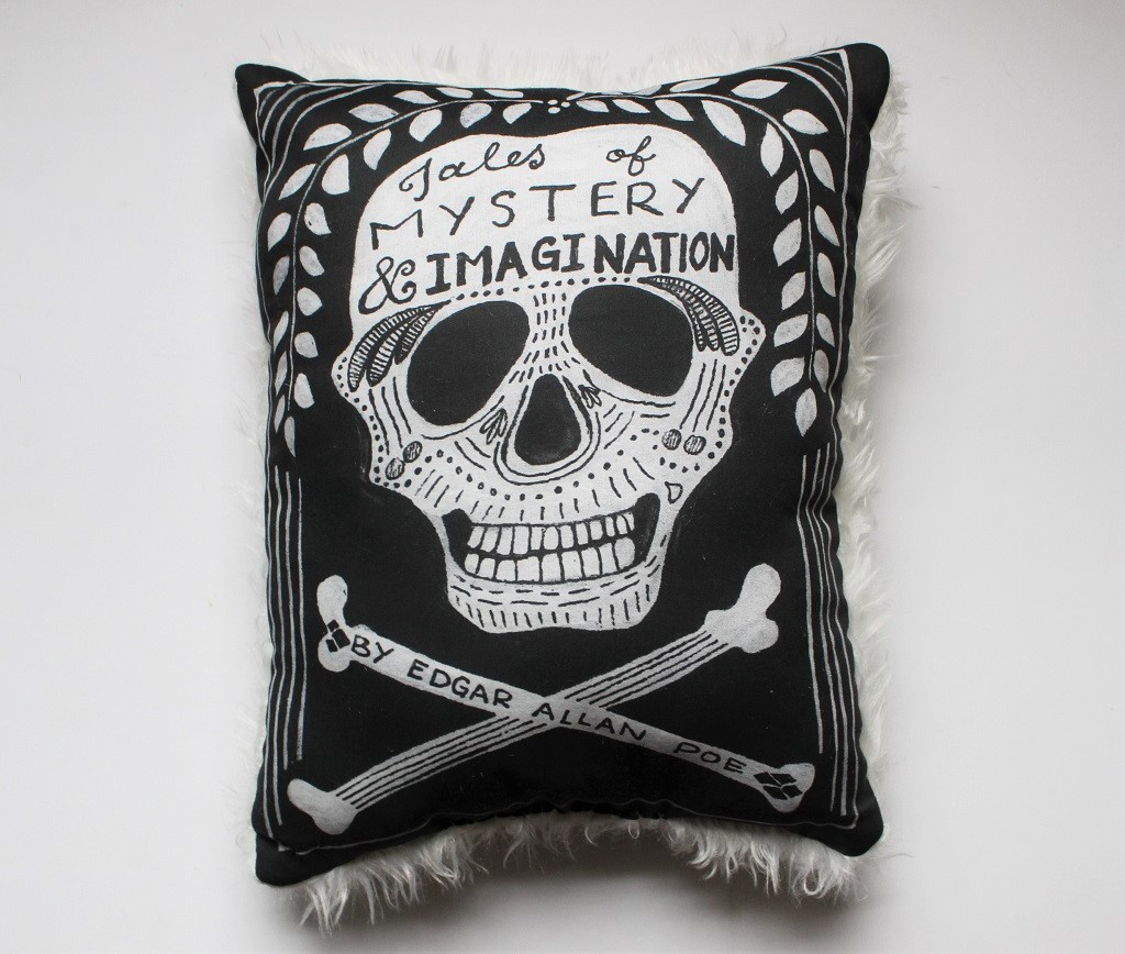 Tales of Mystery and Imagination Throw Pillow, $30
