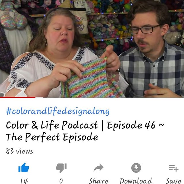 Episode 46 is up and it is The Perfect Episode! Have you seen it yet? . . #coloringlife #colorandlife #colorandlifepodcast #fiberjenn #colorfullife #menwhoknit #knitallthecolors #knitalltheminis #knitting #knitter #knittersofinstagram #knitters #knitallthecowls #colorandlifedesignalong #springintosummerkal #knitstitch #colorfuleclectic #frontrangebags