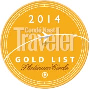 Conde Nast Traveler's Gold List and Platinum Circle    2014, 2013 &2012