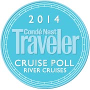 """Conde Nast Traveler's Reader's Cruise Poll  """"Top 40 River Cruise Ships"""" (2014) - Five Uniworld cruise ships place in the top 40:  River Princess, River Empress, River Queen, S.S. Antoinette, River Beatrice"""