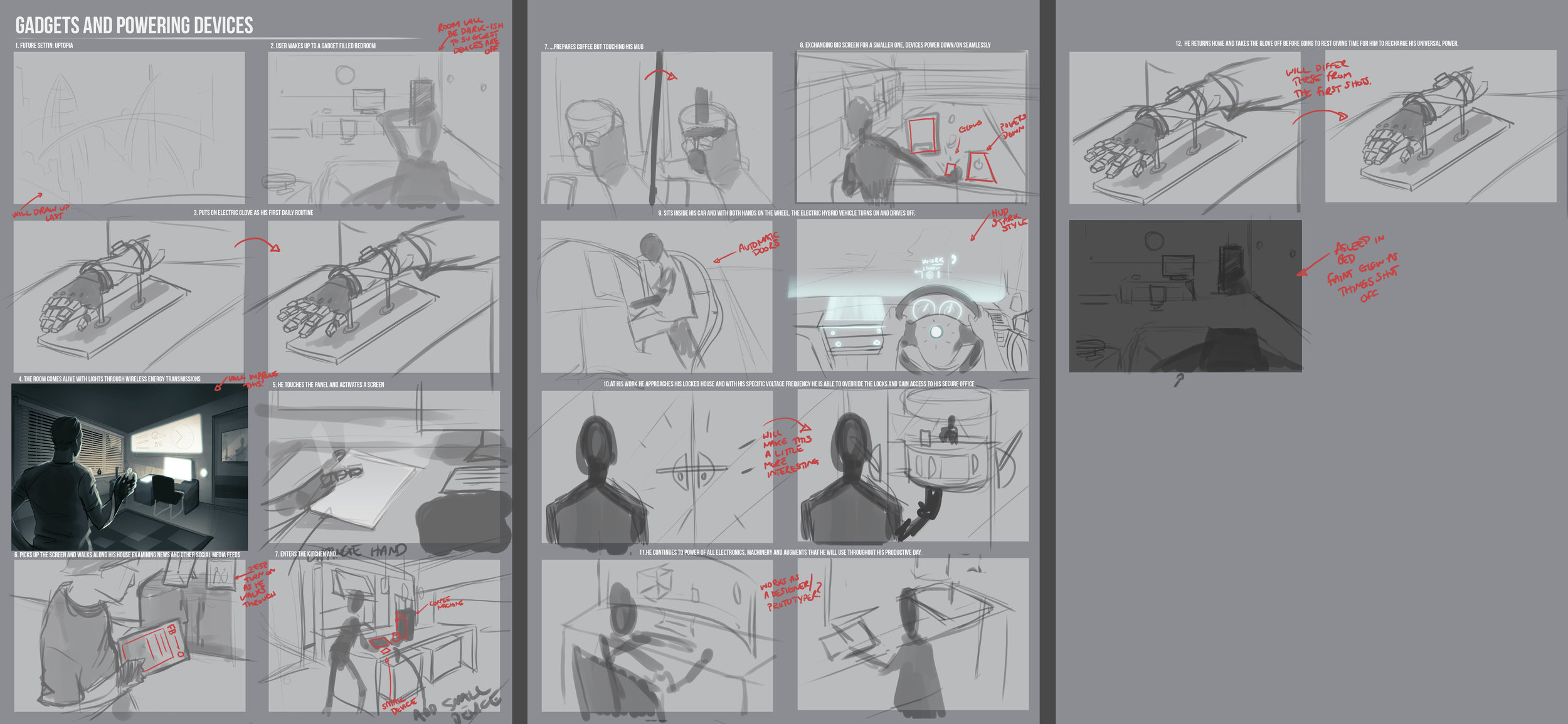 Concept storyboard developed with Daniel Francis [see http://www.ichi-dan.com/]