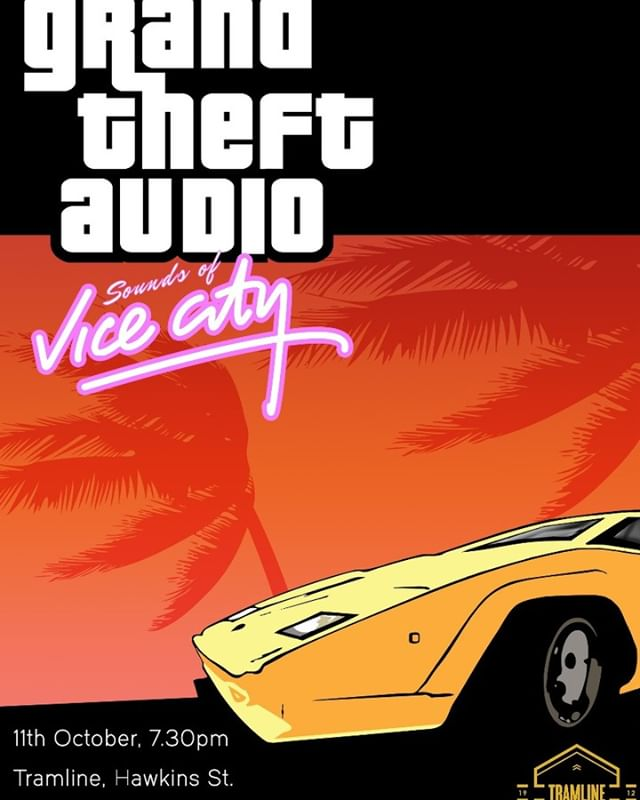 Not long to go until our next Grand Theft Audio gig! Hitting @tramlinedublin  on October 11th to play some serious 80s classics and all the best tunes from the Vice City soundtrack!
