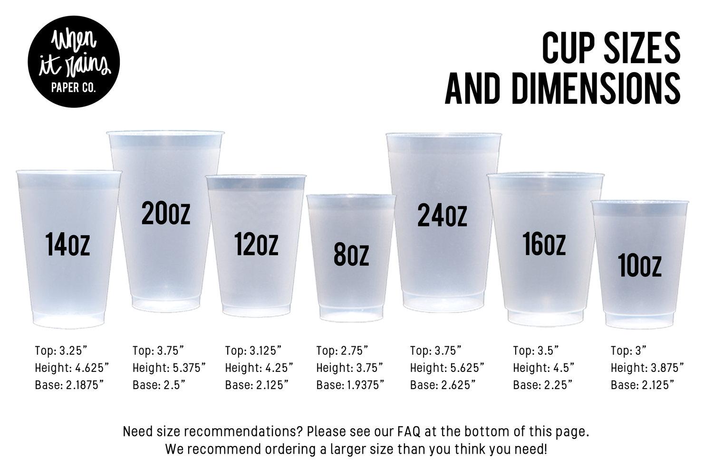 Monogrammed Wedding Cups Hexagon