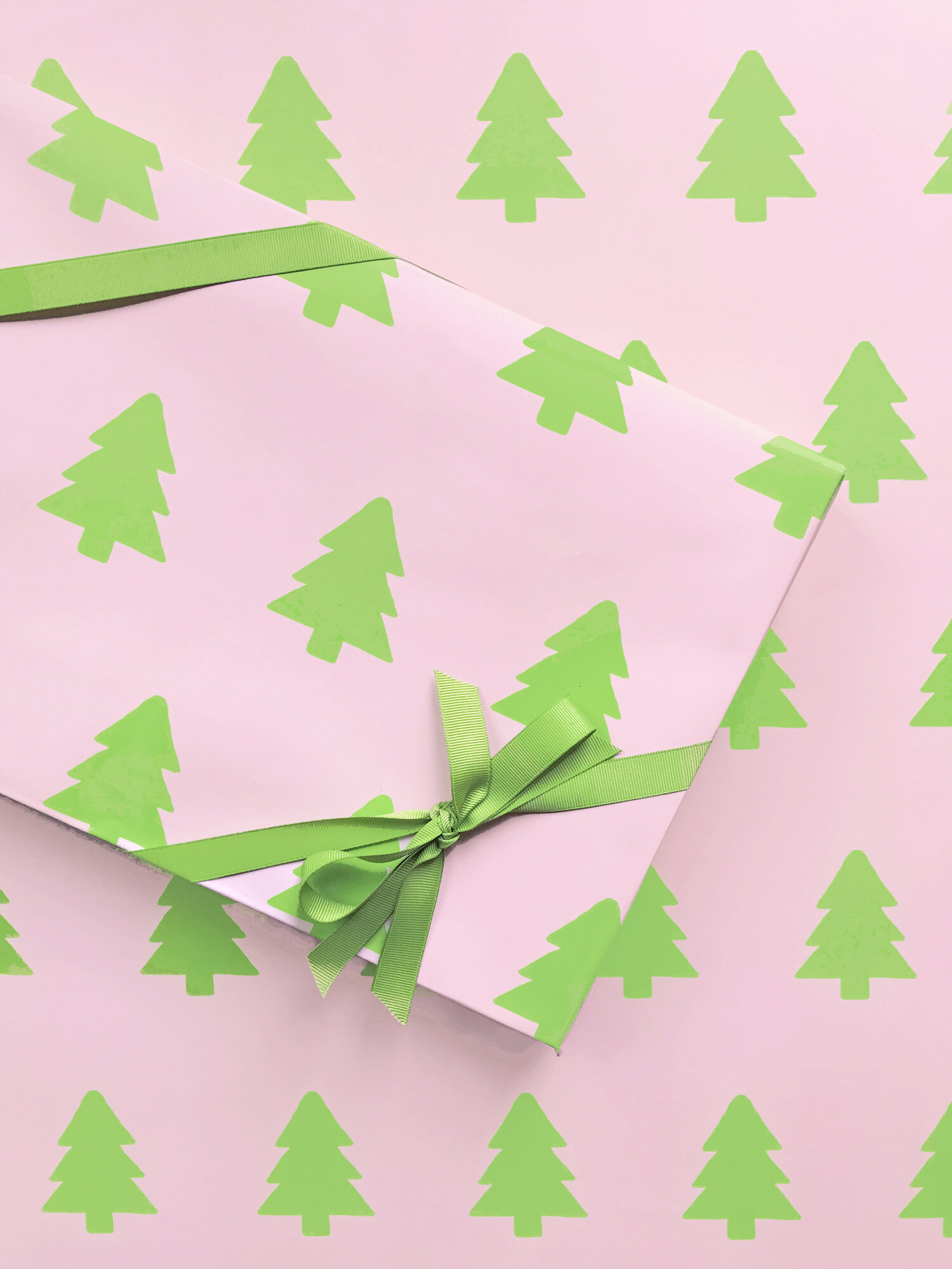 Pink Christmas Tree Wrapping Paper — When it Rains Paper Co. | Colorful and  fun paper goods, office supplies, and personalized gifts.