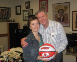 Meghan with her hero and advisory board member Hall of Fame Coach Denny Crum