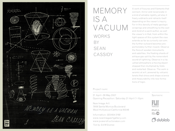 SEAN CASSIDY - MEMORY IS A VACUUM