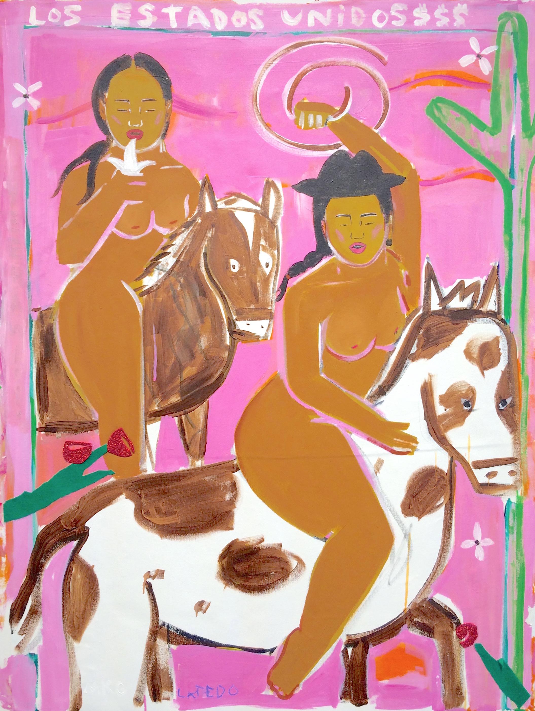 Laredo 1, 2017, acrylic on canvas, 48 x 36 inches