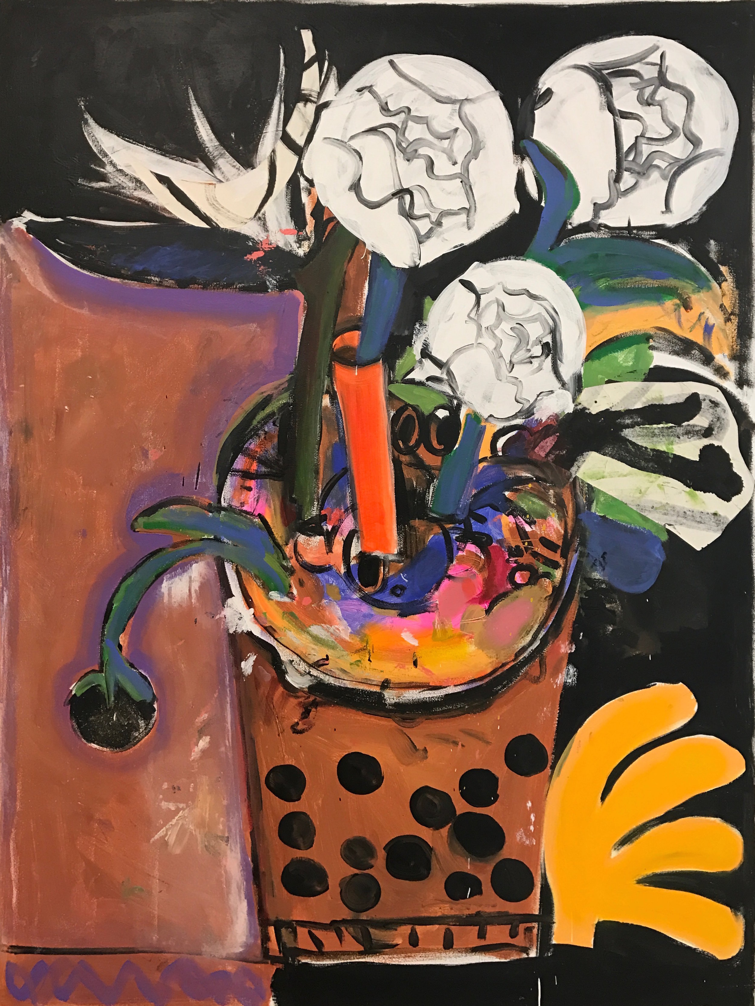 Tessar Lo / A Matter Of Taste / 2017 / Mixed media on canvas / 48 x 36 inches