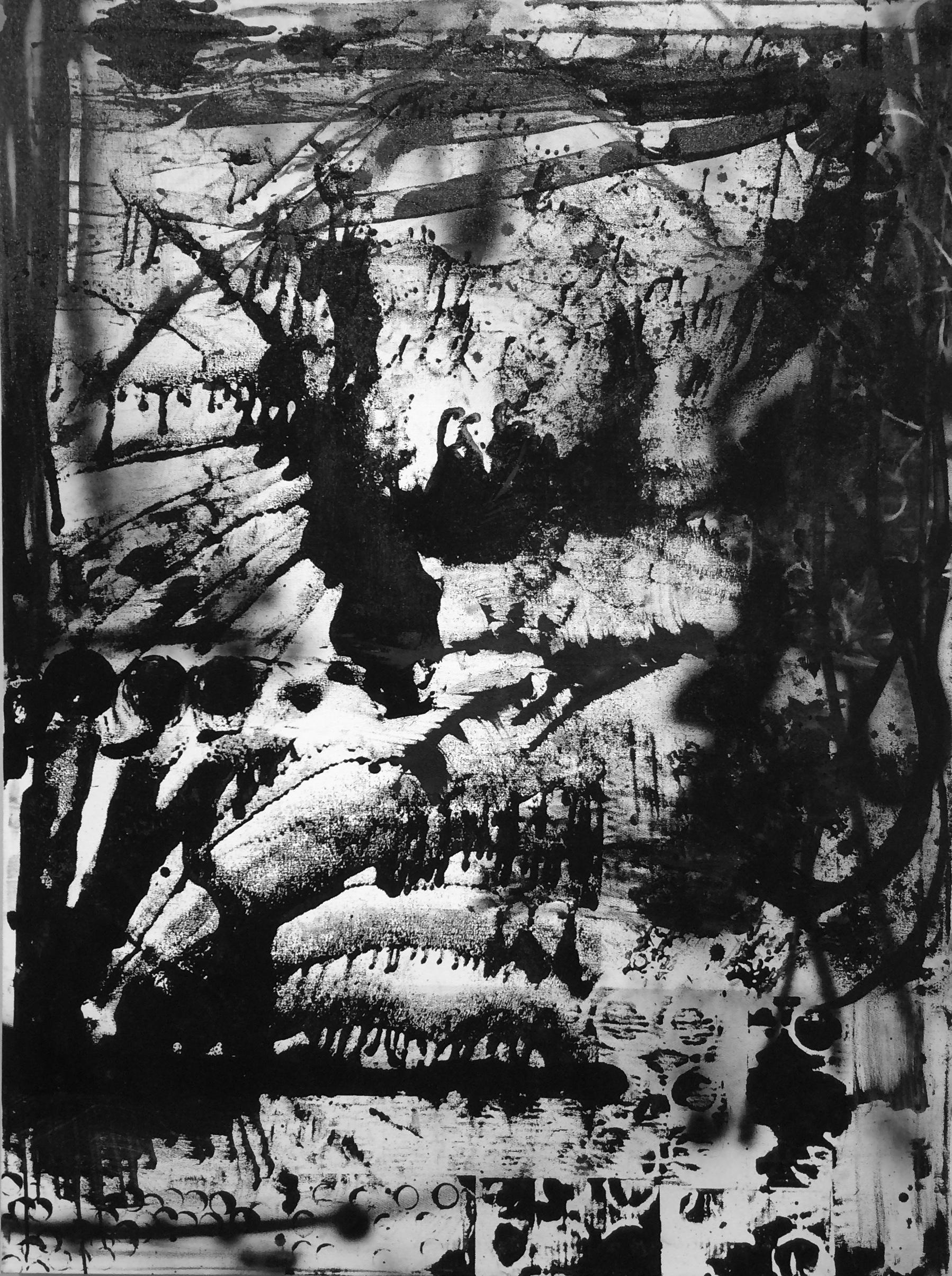 Zachary Garrett / Flag #5 / 2017 / Acrylic on canvas / 48 x 36 inches