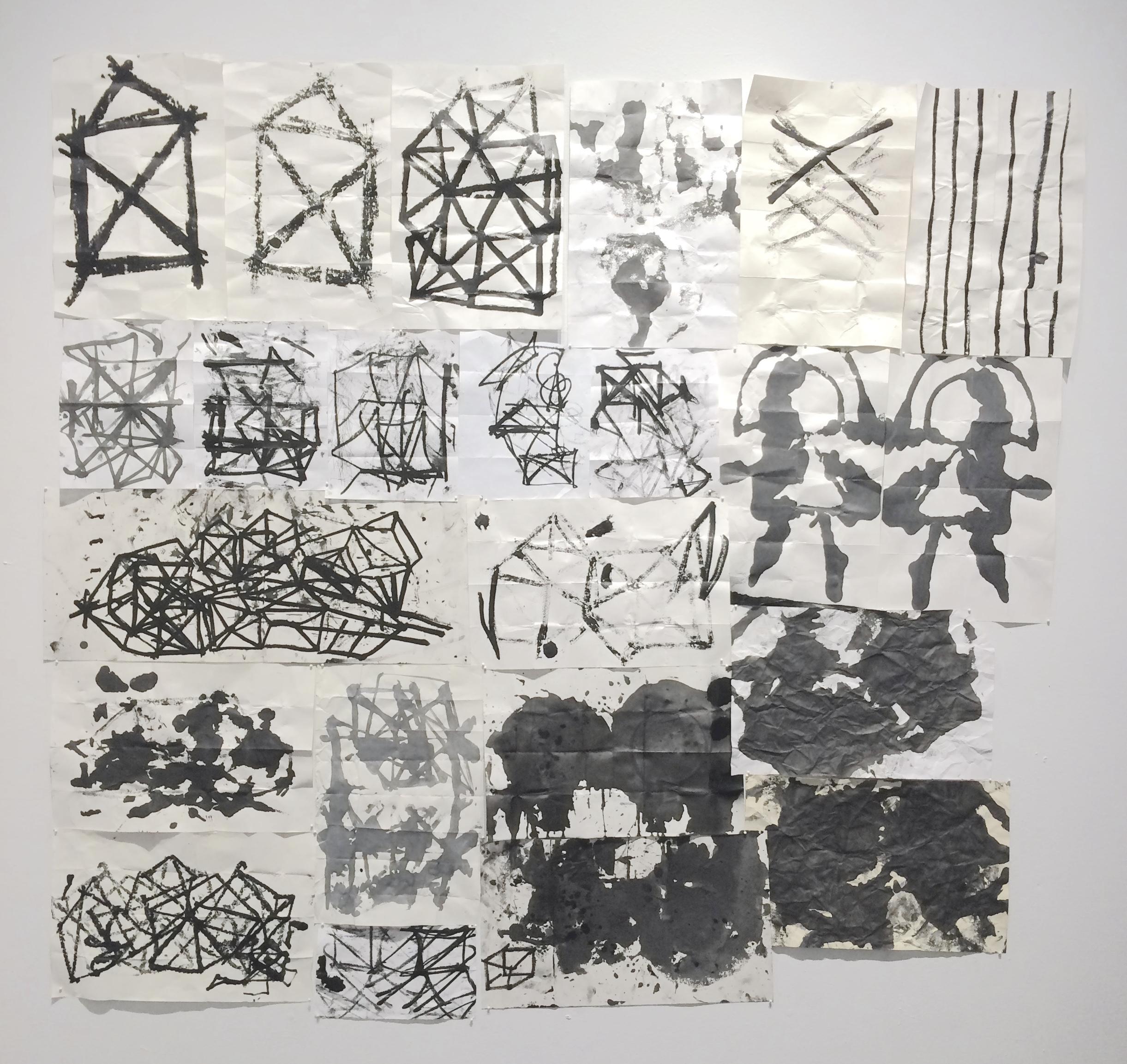 Zachary Garrett / Various / 2017 / Acrylic on paper / various