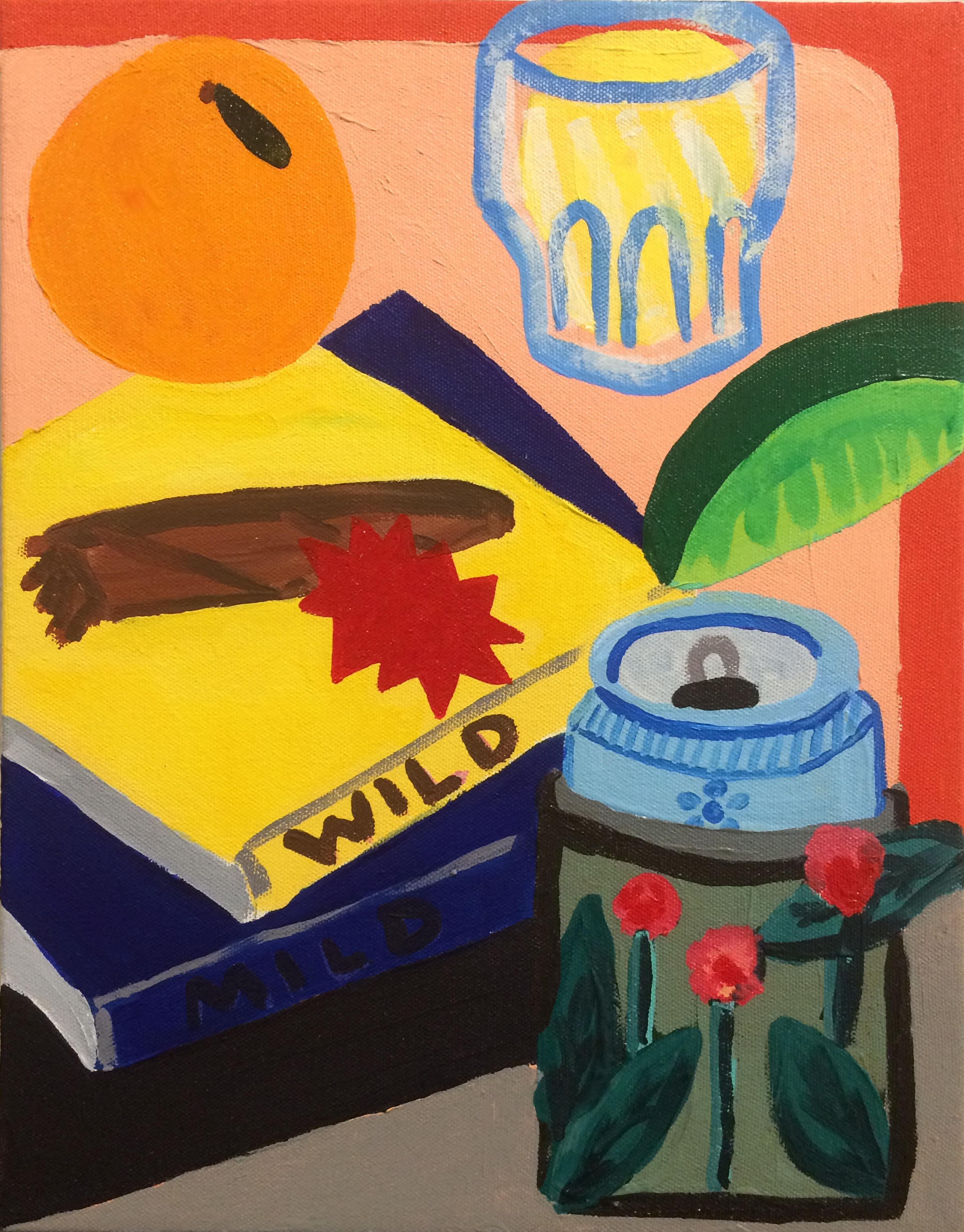 Nate Friedman / Still Life / 2018 / Acrylic on canvas / 14 x 11 inches
