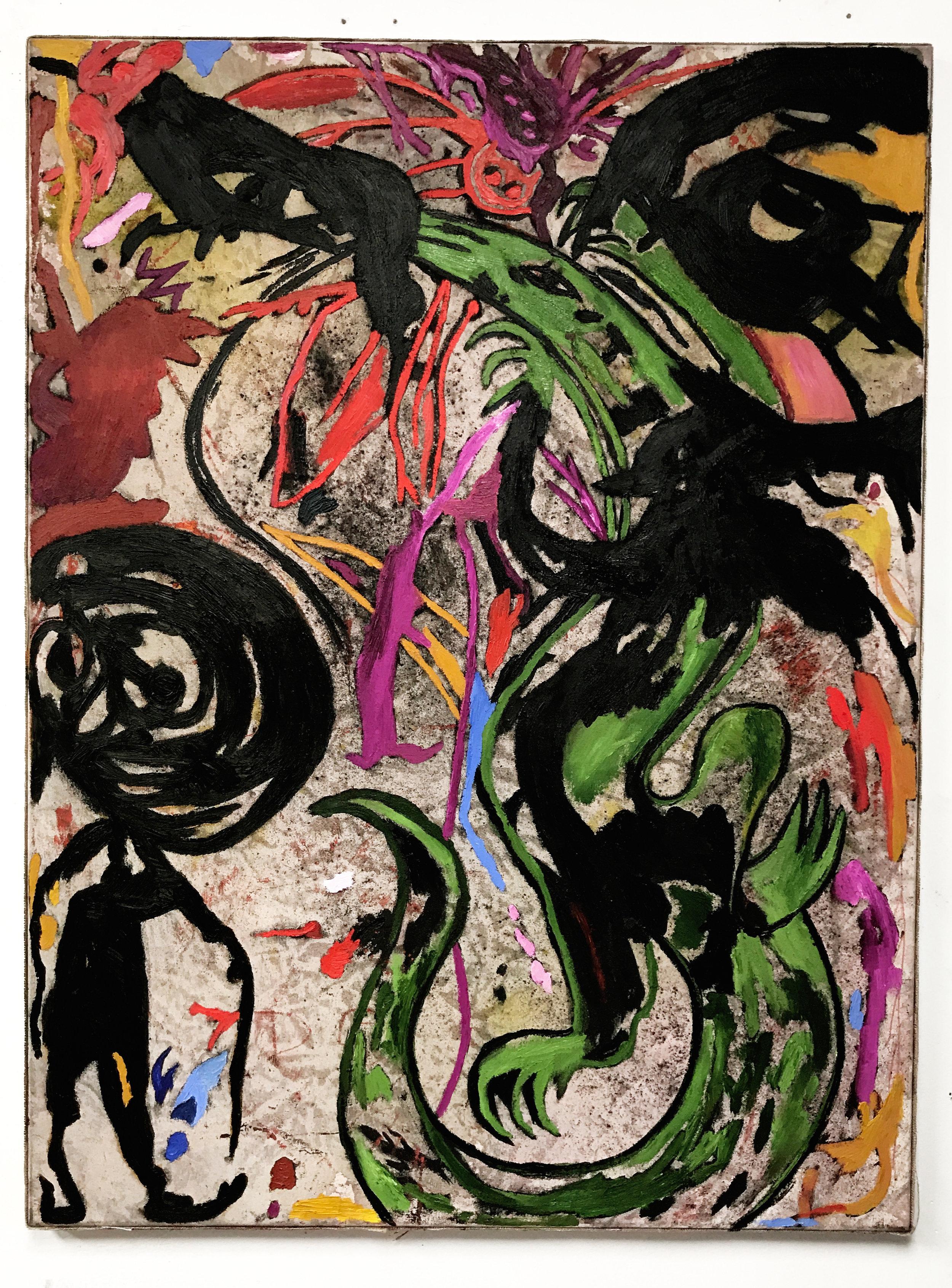 DG_Desert Walker_40x30_Oila&cochineal dye on canvas_$2,000.jpg