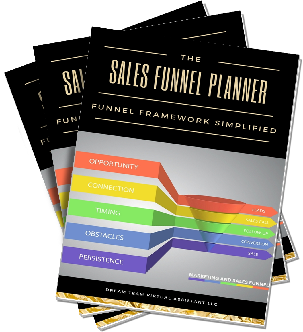 Sales Funnel Planner - This comprehensive 22 page planner will spell out exactly how to set up an effective, converting sales funnel for your products. We've included handy worksheets to help you figure out your goals and objectives and get you well on your way to making the income of your dreams!
