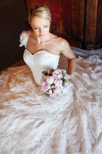 Sarah Hall - silk taffeta, silk chiffon - Hamner Springs Bridal - Duet Photography