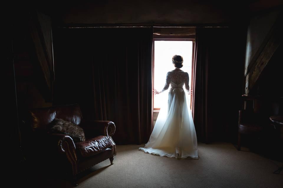 Alex - silk satin charmeuse, beaded lace, silk organza - Queenstown Bride