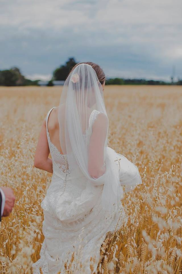Sarah - silk satin crepe, applique corded lace - Christchurch Bride - Susannah Blatchford Photography