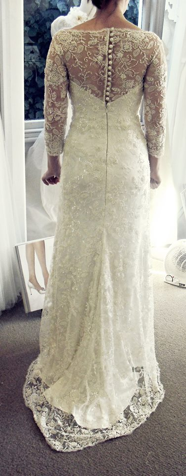 Alex - silk satin crepe, beaded lace - Queenstown