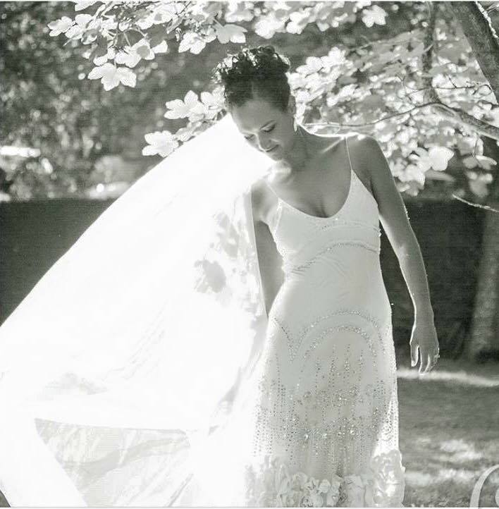 Lache - silk satin charmeuse Jenny Packham gown - Christchurch Bride -