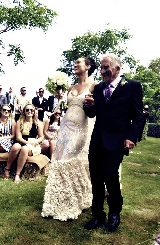 Lache - silk satin charmeuse Jenny Packham gown - Christchurch Bride