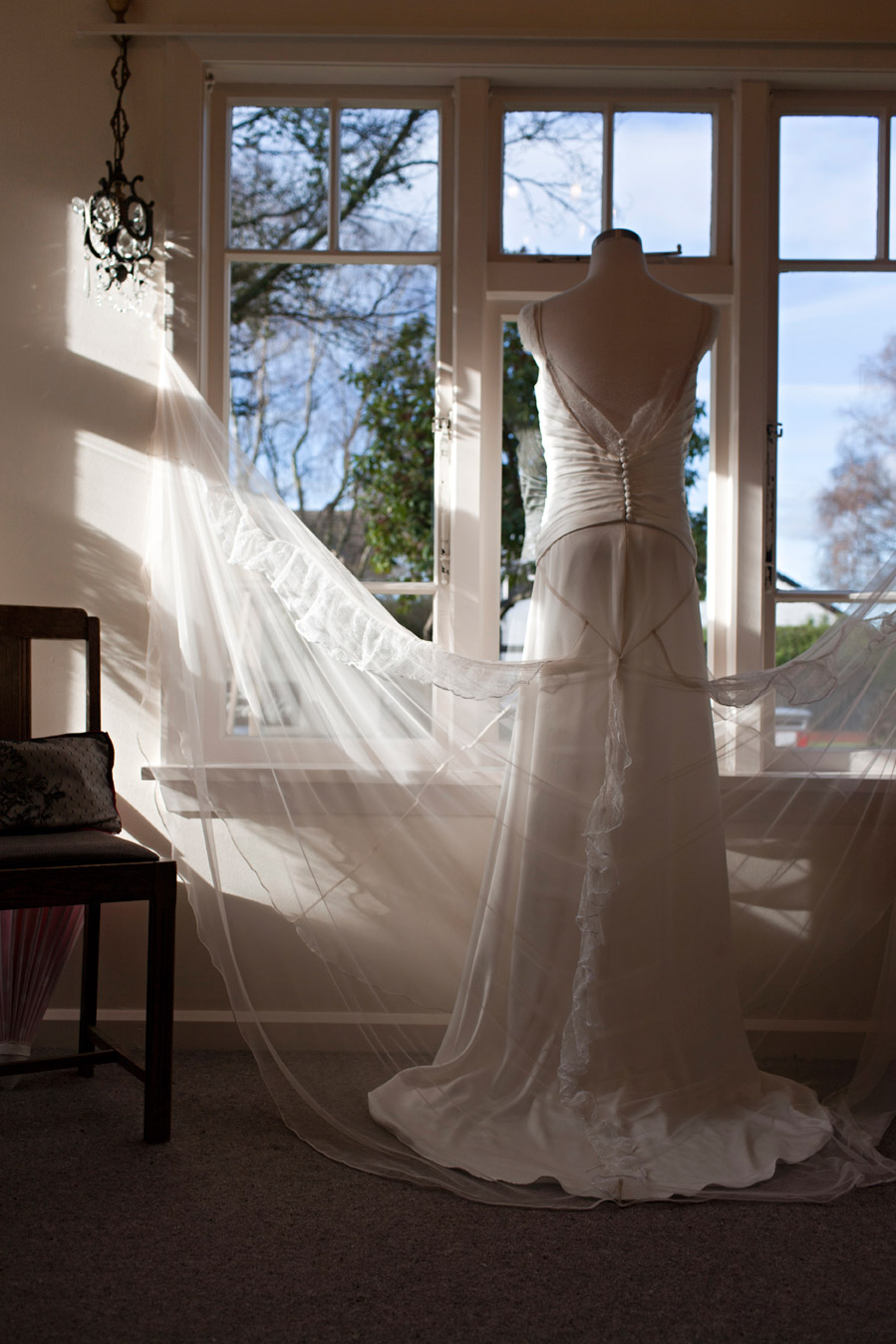 Sophie - silk satin crepe, tulle and french lace - Christchurch