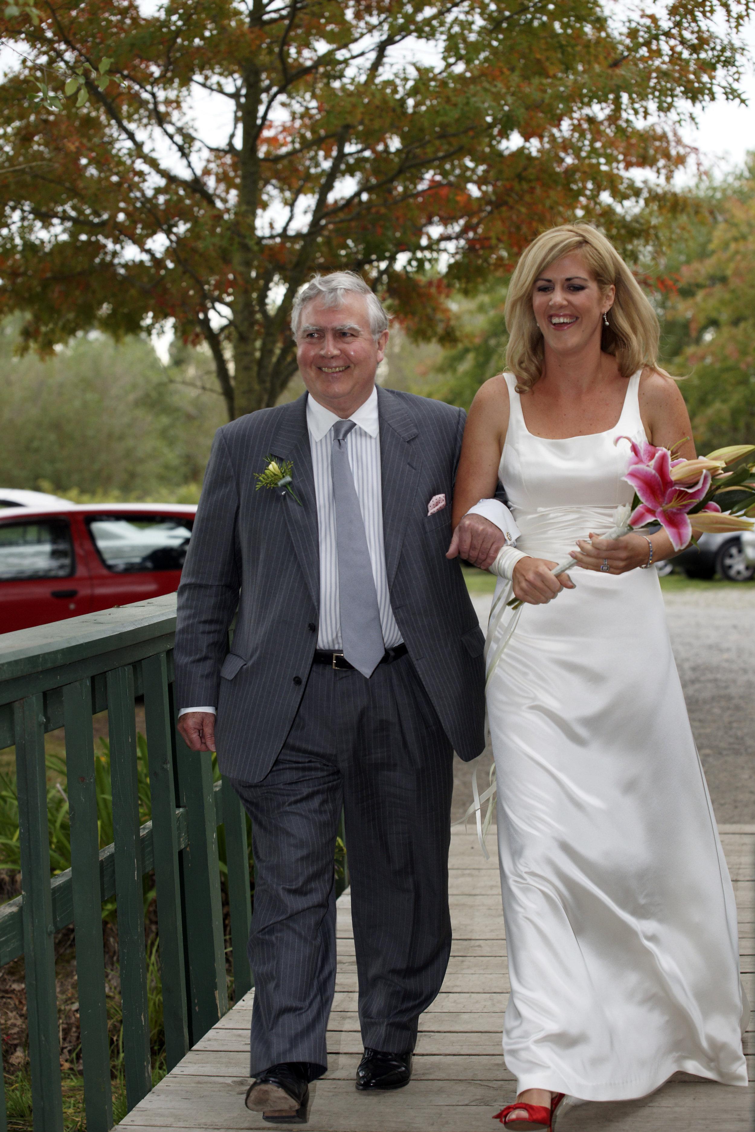 Juliet - silk satin crepe, ribbons - Christchurch bride - friend photographer