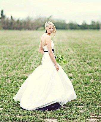 Aleisha - silk taffeta, black netting - South Canterbury bride - Fiona Anderson Photography