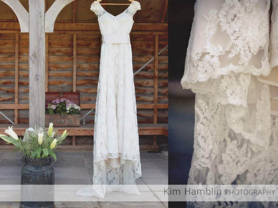 Ashley - blush satin, corded lace - North Canterbury bride - Kim Hamblin Photography