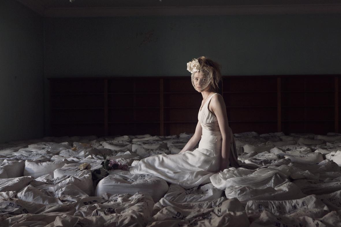 Brooke - silk satin crepe, charmeuse, chiffon - Christchurch bride - Petra Mingneau Photography